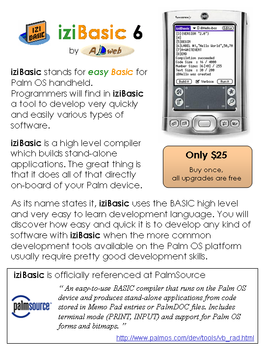 iziBasic - text description is included in the image